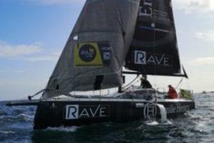 ERWAN LE DRAOULEC, skipper RAVE finit 8e de la Douarnenez Courses Solo Gijón